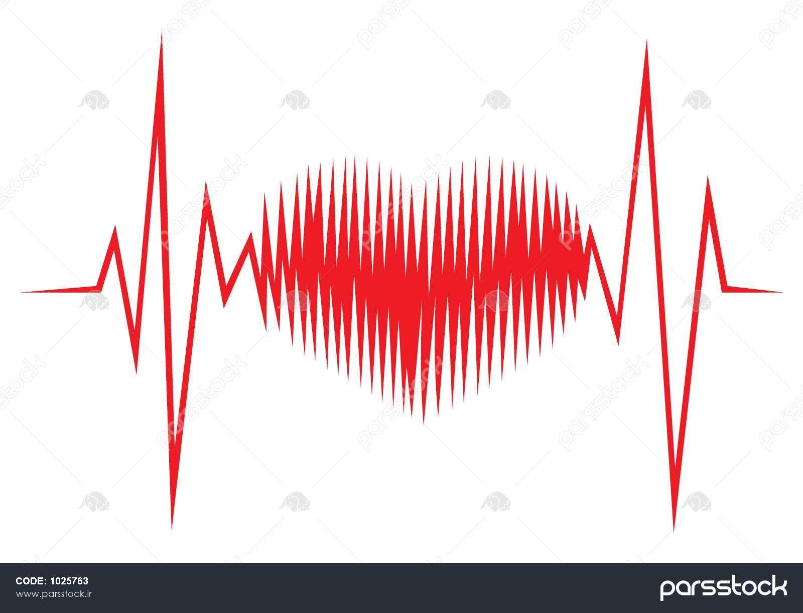 شکل قلب خط Ecg وکتور لایه باز 1025763 پارس استاک شاتر استوک پارسی