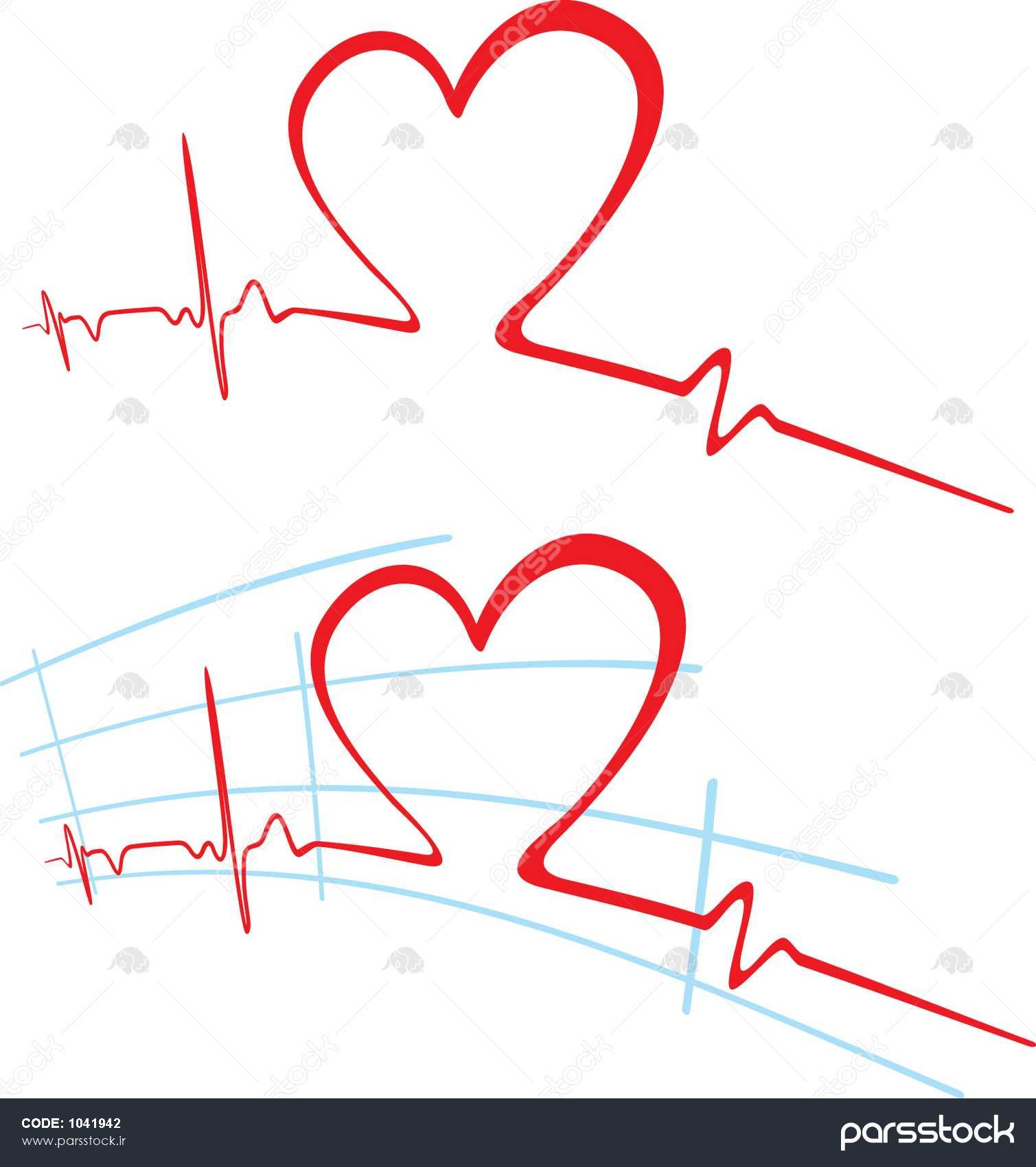 Cardiogram ضربان قلب وکتور لایه باز 1041942 پارس استاک شاتر استوک پارسی