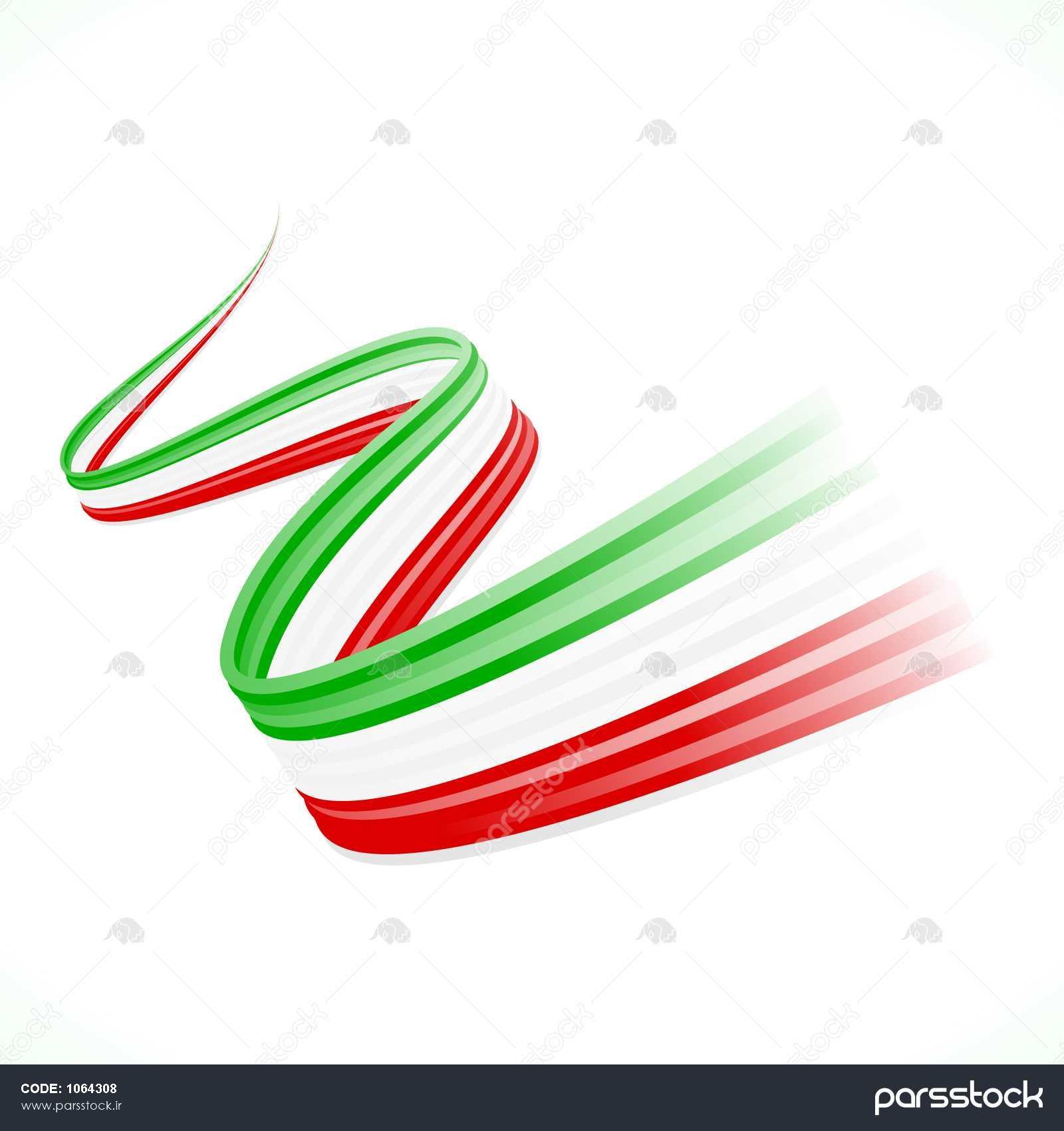چکیده تکان ایتالیایی، مکزیکی، مجارستان و پرچم ایران وکتور
