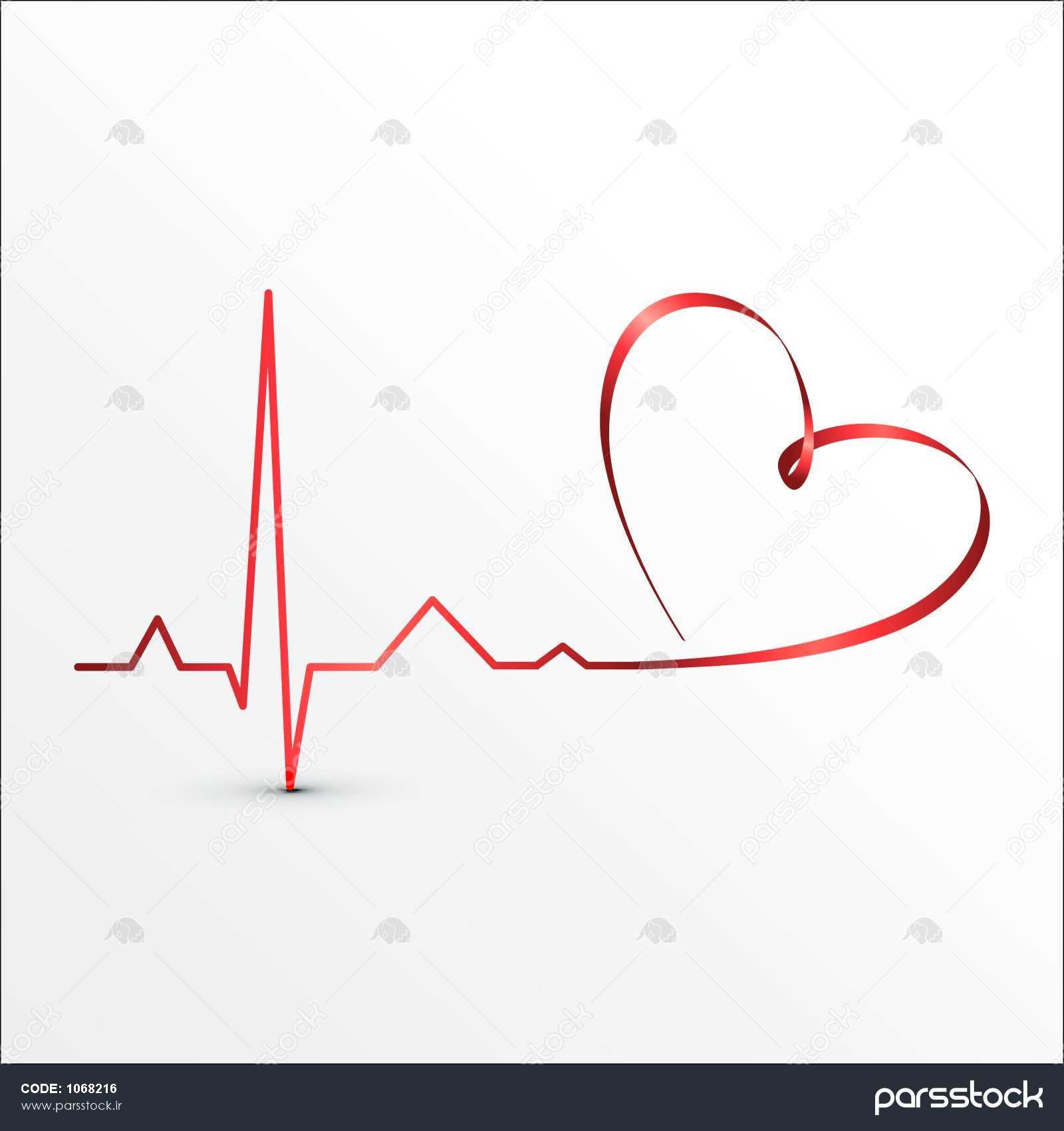 ضربان قلب آیکون Cardiogram پس زمینه پزشکی وکتور لایه باز 1068216 پارس استاک شاتر استوک پارسی