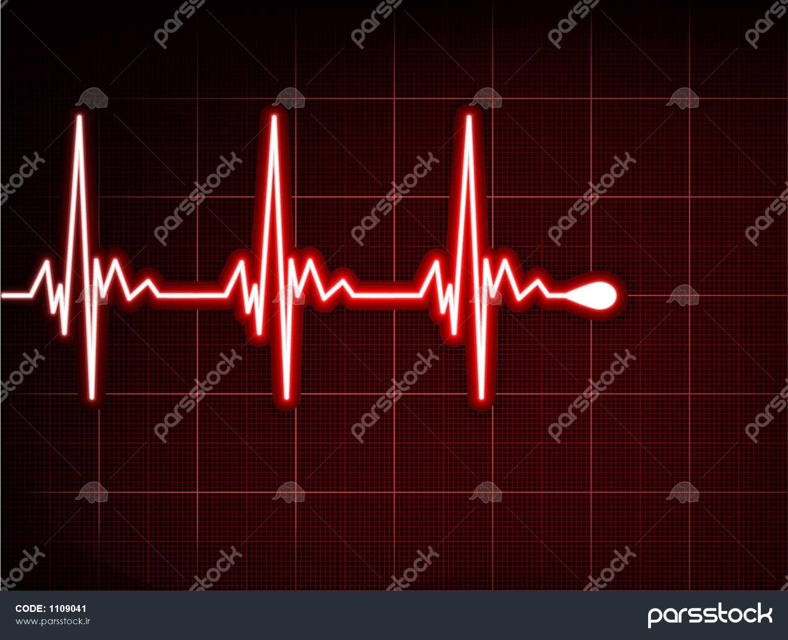 خلاصه ضربان قلب نوار قلب Eps 8 وکتور لایه باز 1109041 پارس استاک شاتر استوک پارسی