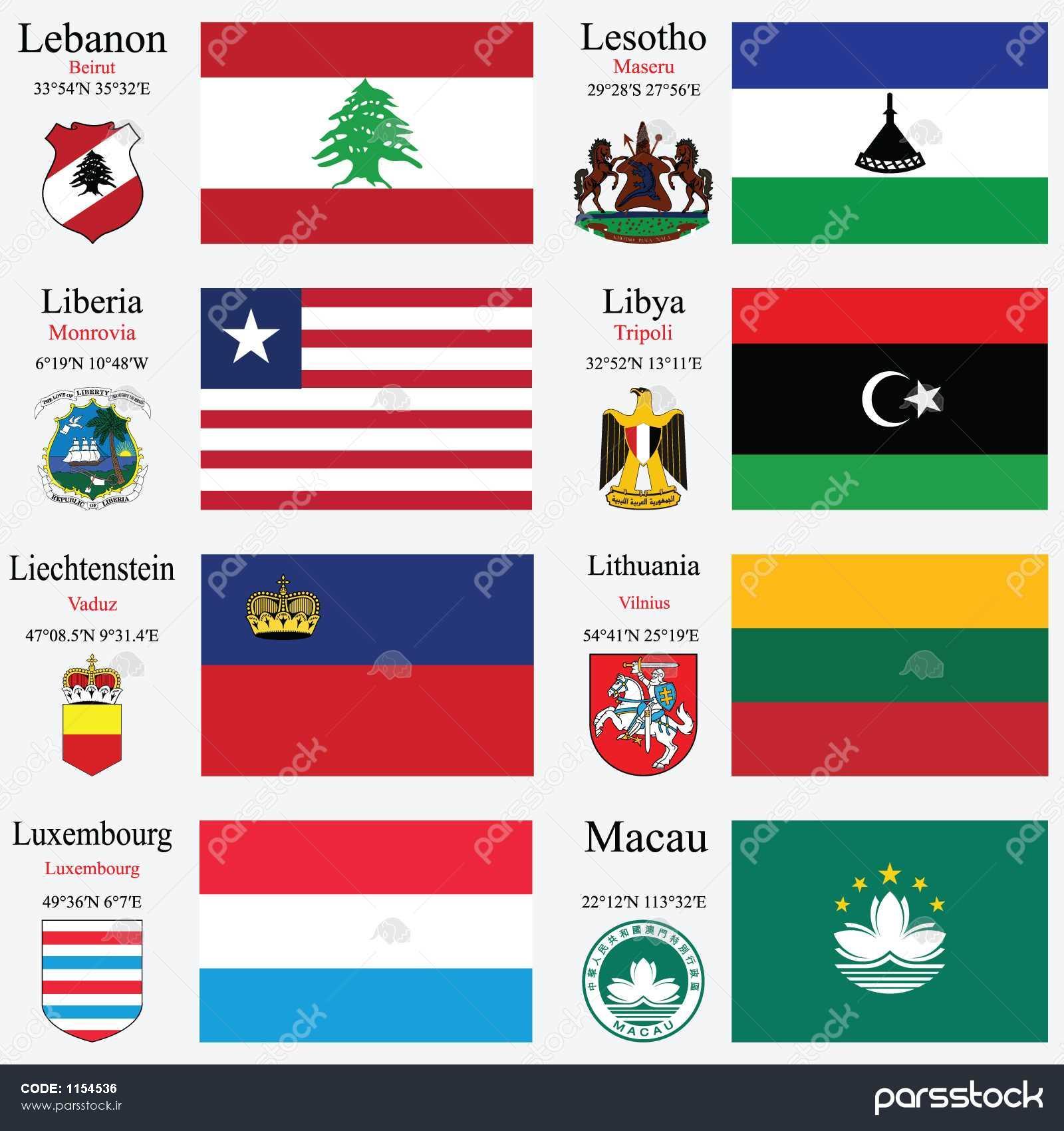 عکس پرچم کشور لیتوانی