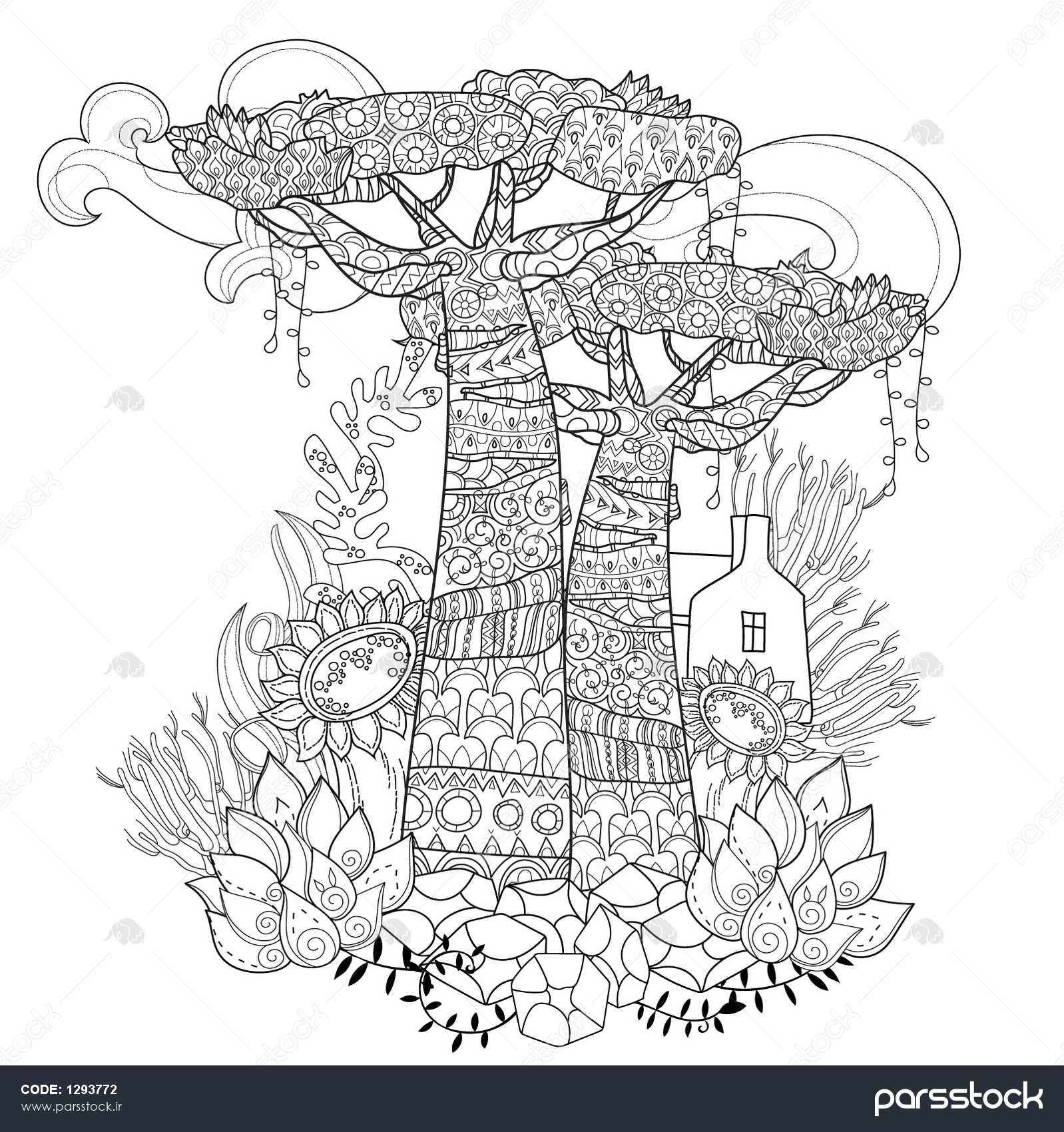outline drawings of flowers