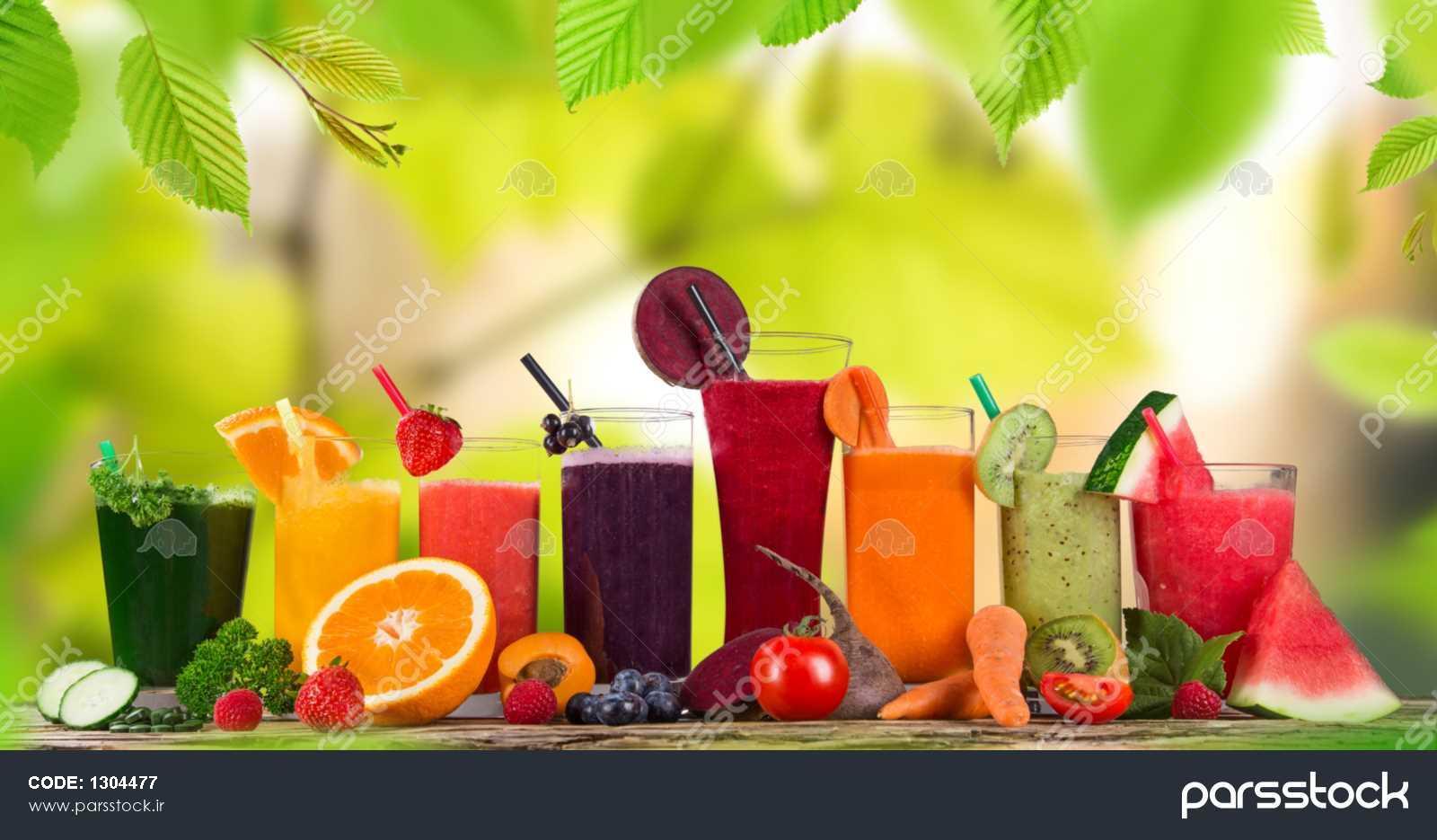 آب میوه های تازه نوشیدنی های سالم عکس 1304477 : پارس استاک - شاتر استوک  پارسی