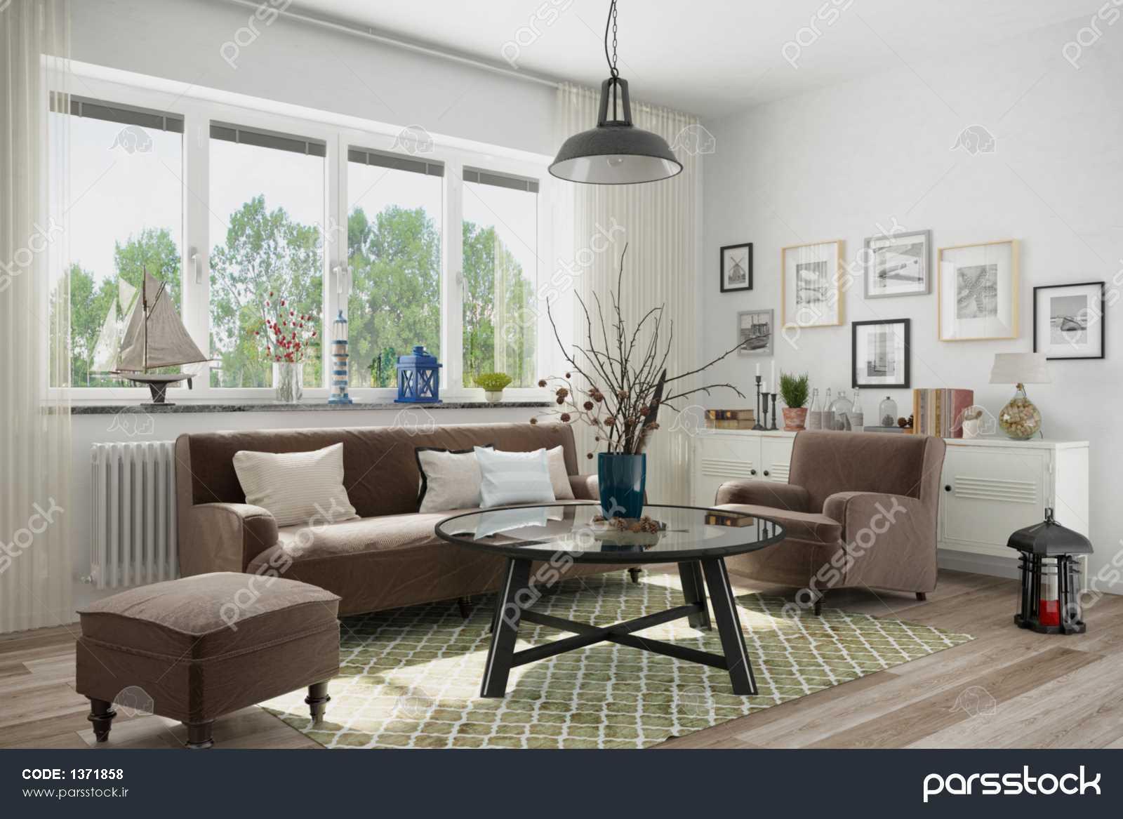 Skandinavisches nordisches Wohnzimmer einem mit مبل و Sessel Deko