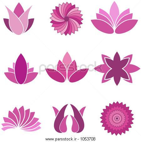 آیکن گل مجموعه - جدا شده در سفید پس زمینه - تصویر برداری ، طراحی ...آیکن گل مجموعه - جدا شده در سفید پس زمینه - تصویر برداری ، طراحی گرافیک