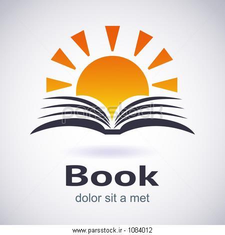 تصویر سازی کتاب و خورشید. لوگو. آیکون E- کتاب. بردار وکتور لایه ...تصویر سازی کتاب و خورشید. لوگو. آیکون E- کتاب. بردار
