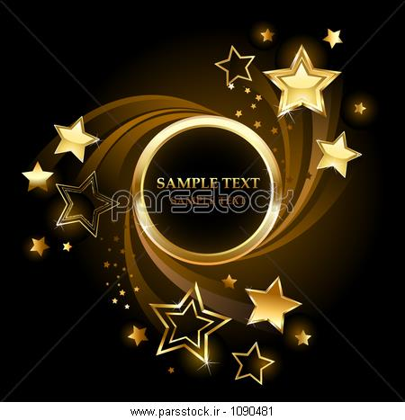 قیمت بنر تولد بنر طلایی دور با طلا ، درخشان ستاره در یک پس زمینه سیاه و ...