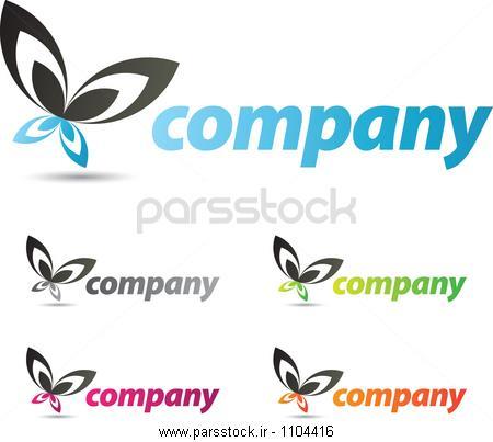 طراحی لوگو پروانه وکتور لایه باز 36902076 : پارس استاک - شاتر ...طراحی لوگو پروانه