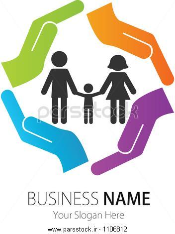 شرکت ( کسب و کار ) طراحی لوگو ، وکتور ، قلب، خانواده، دست وکتور ...شرکت ( کسب و کار ) طراحی لوگو ، بردار ، مردم
