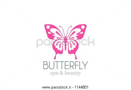 پروانه طراحی لوگو بردار آبگرم سالن زیبایی علامت متمایز وکتور لایه ...پروانه طراحی لوگو بردار آبگرم سالن زیبایی علامت متمایز