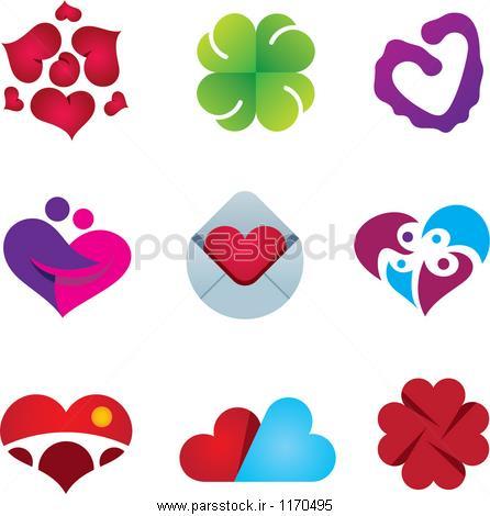 احساس زیبا عشق قلب احساس طراحی لوگوی مجموعه آیکون وکتور لایه باز ...احساس زیبا عشق قلب احساس طراحی لوگوی مجموعه آیکون