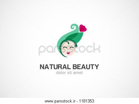 شبح زن با برگ سبز و گل وکتور لوگو طراحی الگو آرایشی و بهداشتی ...شبح زن با برگ سبز و گل وکتور لوگو طراحی الگو آرایشی و بهداشتی آرایشی بهداشتی