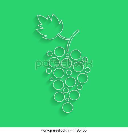 برون نمای سفید نماد انگور با سایه مفهوم سازی و کشت انگور و خانه و ...برون نمای سفید نماد انگور با سایه مفهوم سازی و کشت انگور و خانه و پاییز