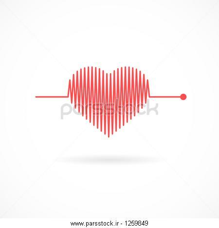 ضربان قلب به شکل قلب نماد قلب وکتور لایه باز 1259849 پارس استاک شاتر استوک پارسی