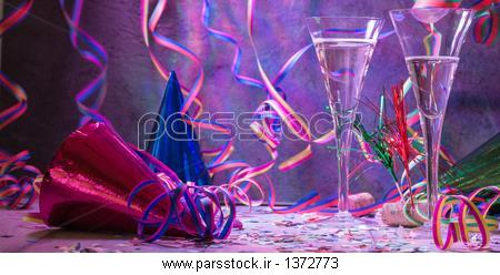 Zwei Sektglaser Auf Einer Ausgelassenen حزب Karneval Fasching