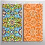 Vertical seamless patterns set floral geometric lace texture for Wedding Valentine